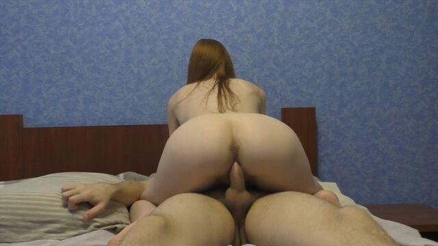 Русское домашнее порно: моя горячая худая рыжая бестия