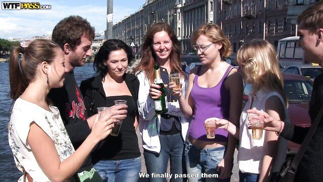русская пьяная групповая оргия на даче