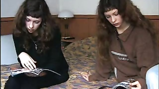Русские близняшки Лена и Света на кастинге