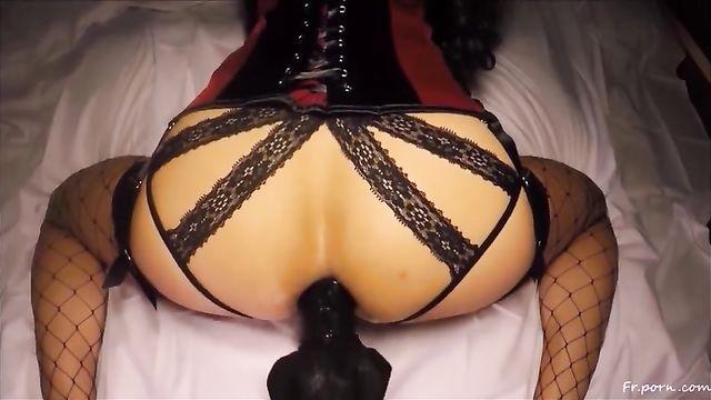 Жесткое домашнее анальное порно от Стейси