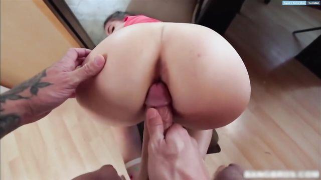 Секс видео с большим толстым белым членом раком