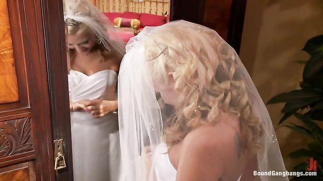 Невесту во время свадьбы связали и жестко трахнули во все щели