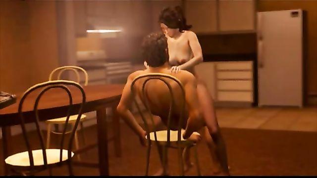 The Last Of Us: Элли и Джоэл занимаются сексом на кухне