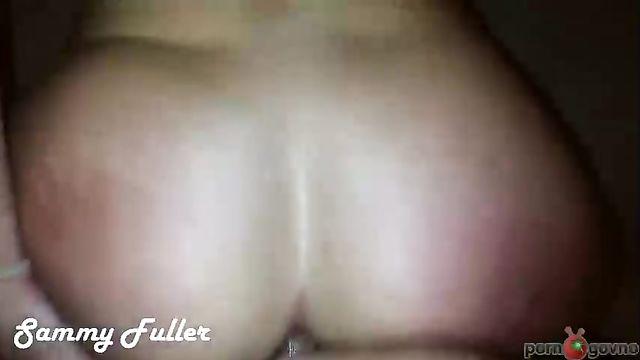 Домашнее порно: Анал с красной от шлепков задницей