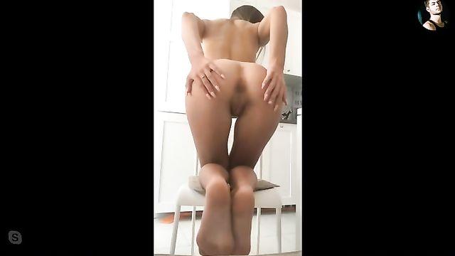Секс по скайпу с красивой молодой русской девушкой