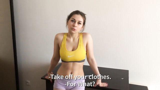 Русское порно в спортзале на фитнесе