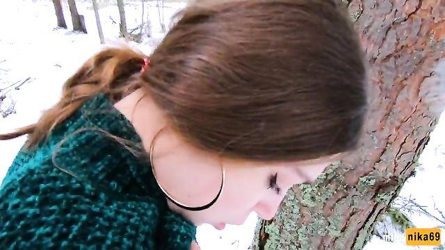 Зимний перепихон с MihaNika69: снег и мороз не помеха!