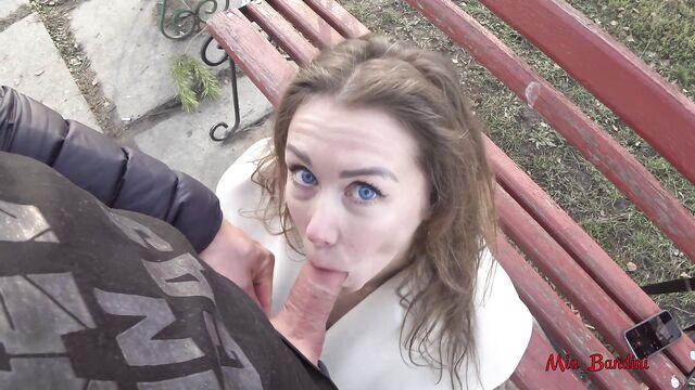 Домашнее порно: Публичный секс в городском парке с Миа Бандини